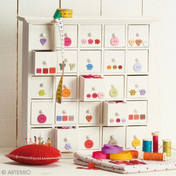 Meuble 25 tiroirs calendrier de l'Avent - Photo n°3