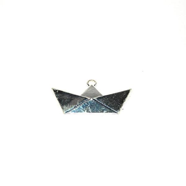 Bateau origami argenté 31x18 mm - Photo n°1