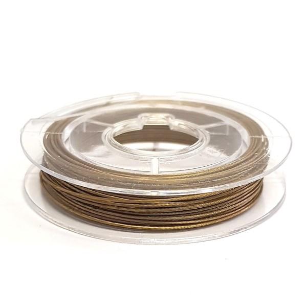 Accessoires création fil câblé 0.45 mm en bobine de 10 mètres Bronze - Photo n°1