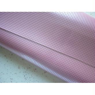 Tissu Vinyle perforé laqué rose blush - coupon 25 x 45 cm