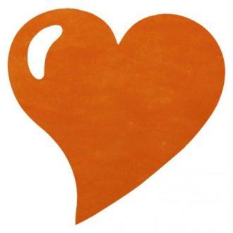 Sets de Table Coeur Orange Intissé Les 50