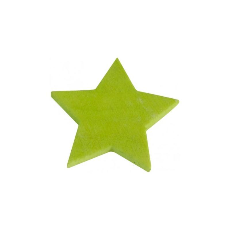 Etoiles en bois couleur festive 3 cm les 12 couleur vert for Accessoire cuisine en ligne