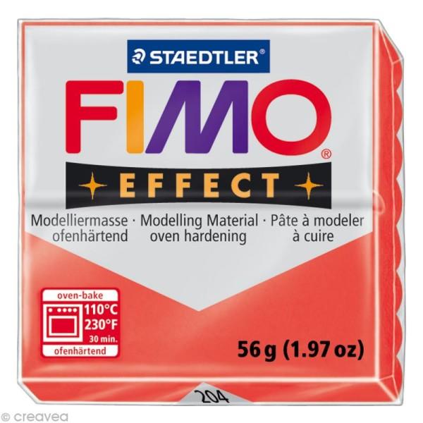 Pâte Fimo Effect Rouge Translucide 204 - 56 gr - Photo n°1