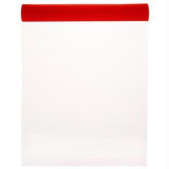 Chemin de table tulle couleur 5 M x 50 cm COULEUR:Rouge