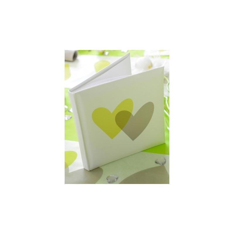 livre d 39 or coeur vert anis coeur gris accessoires d co table creavea. Black Bedroom Furniture Sets. Home Design Ideas