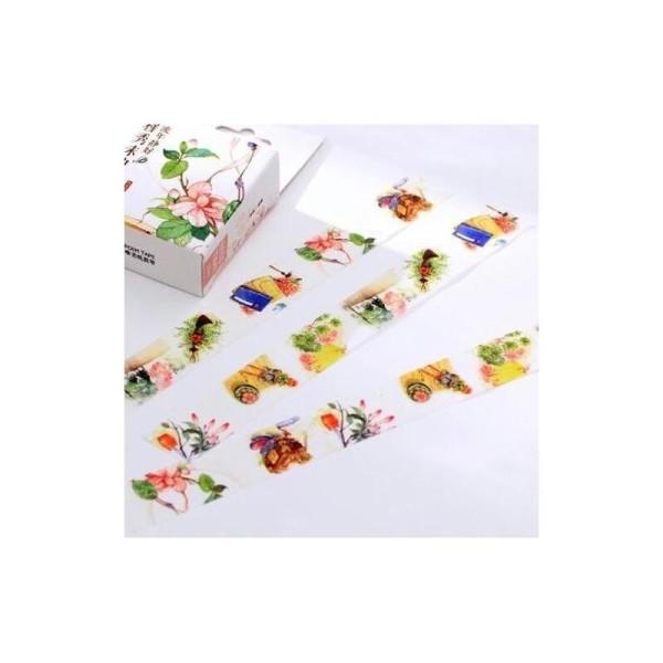 Washi Tape ruban adhésif scrapbooking 1,5 x 10 m PRINTEMPS - Photo n°1