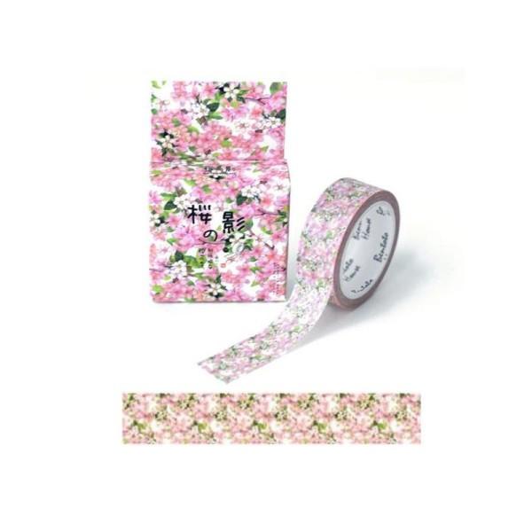 Washi Tape ruban adhésif scrapbooking 1,5 x 7 m PETITE FLEUR ROSE - Photo n°1
