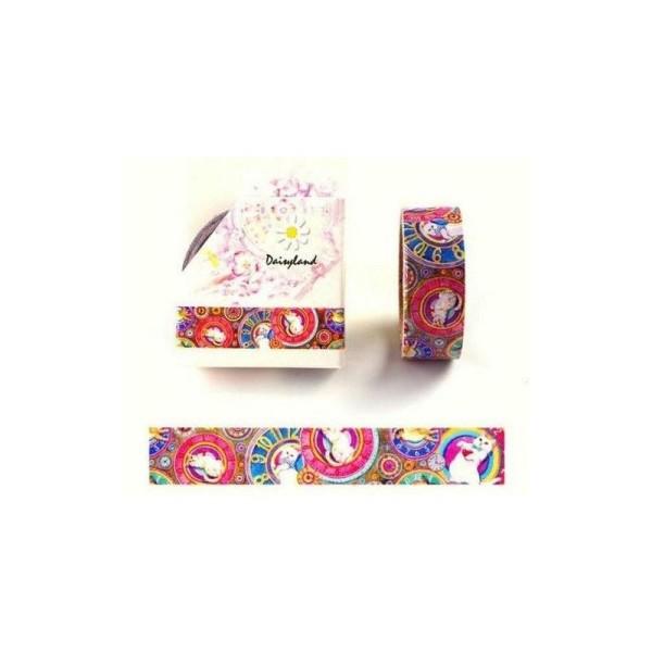 Washi Tape ruban adhésif scrapbooking 1,5 x 7 m CHAT - Photo n°1