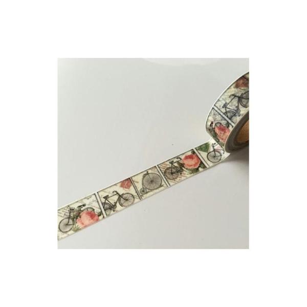 Washi Tape ruban adhésif scrapbooking 1,5 x 10 m VINTAGE VELO ROSE - Photo n°1