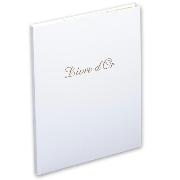 Livre d'or Balacron blanc - Photo n°1