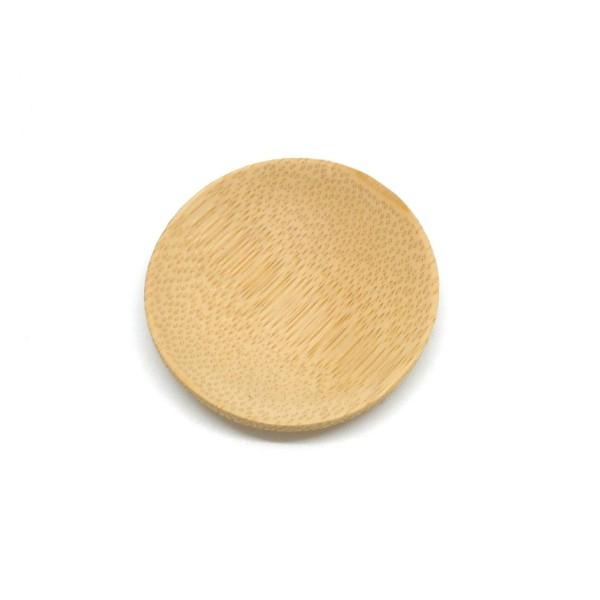 6 Petits Présentoirs Perle En Forme De Coupelle En Bambou 5cm - Photo n°3