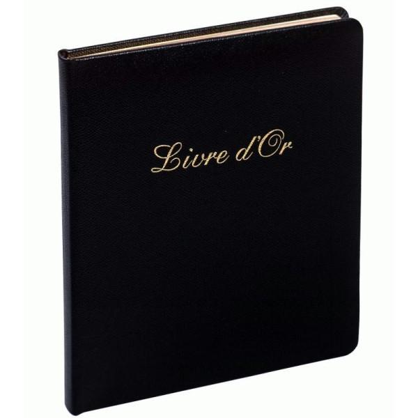 Livre d'or en cuir Alpille noir - Photo n°1