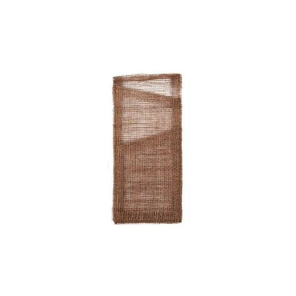 Pochettes A Couverts Et Serviette En Sinamay Les 4 Couleur Chocolat
