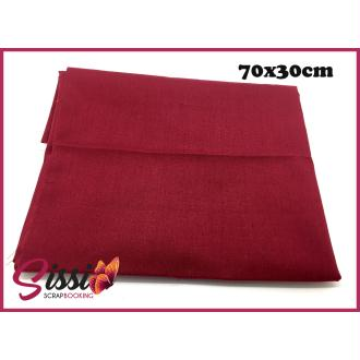 Coupon tissu rouge bordeaux 70x30cm