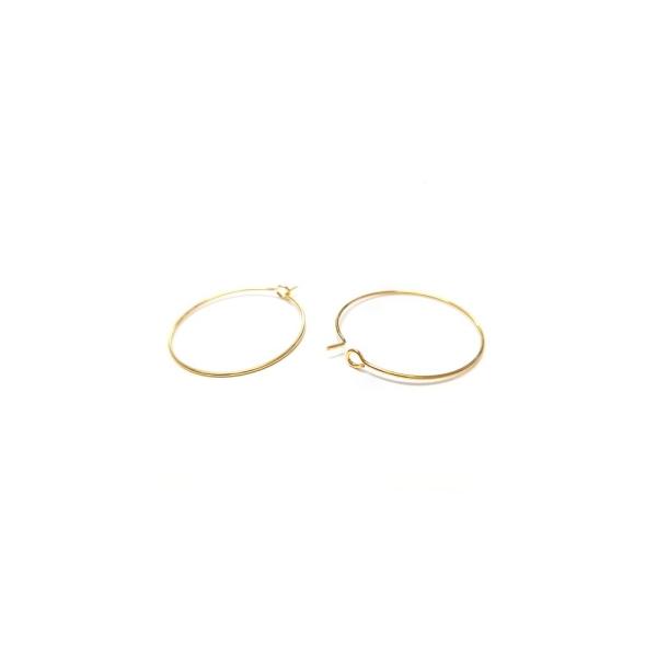 Accessoires création boucle d'oreille cerceaux créole 30 mm (10 pièces) Argenté - Photo n°4