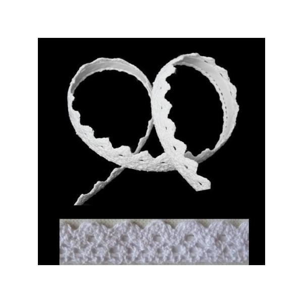 1 Ruban adhésif masking tape crochet dentelle BLANC - Photo n°1