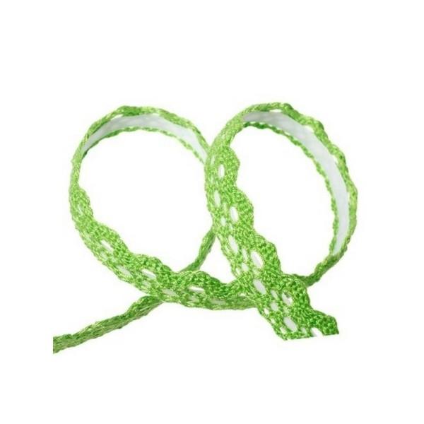 1 Ruban adhésif masking tape crochet dentelle VERT - Photo n°1