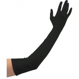 Gants longs noirs adulte Taille:Unique