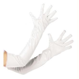 Gants longs blancs adulte Taille:Unique