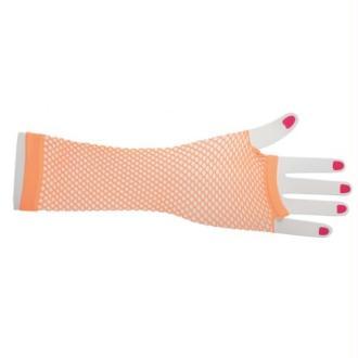 Mitaines résille fluo orange longues femme Taille:Unique