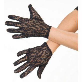 Gants courts dentelle noire femme Taille:Unique