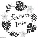 Tampon en bois Aladine - Forever love - 6 x 6 cm - Photo n°1