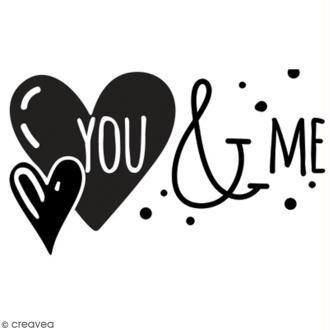 Tampon en bois Aladine - You and me - 4 x 3 cm