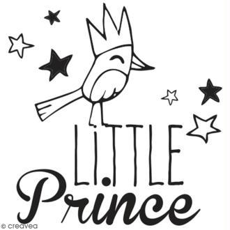 Tampon en bois Aladine - Little prince - 4 x 4 cm