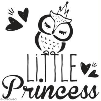 Tampon en bois Aladine - Little princess - 4 x 4 cm