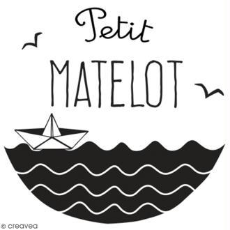 Tampon en bois Aladine - Petit matelot - 4 x 4 cm
