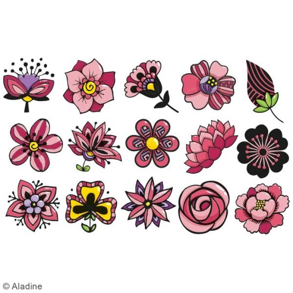 Kit de tampons Stampo kids - Fleurs - 16 pcs - Photo n°2