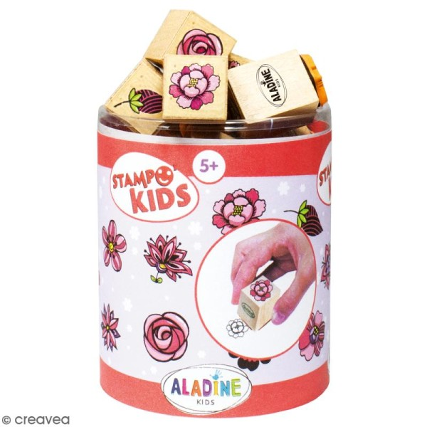 Kit de tampons Stampo kids - Fleurs - 16 pcs - Photo n°1