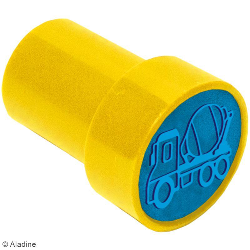 Kit de tampons enfant pré-encrés Stampo Easy - Voiture - 28 pcs - Photo n°2