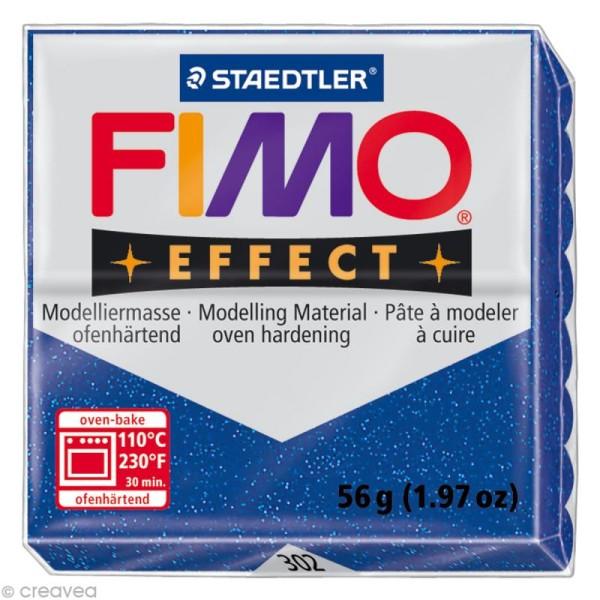 Pâte Fimo Effect Bleu Métallique 302 - 56 gr - Photo n°1