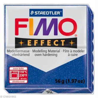 Pâte Fimo Effect Bleu Métallique 302 - 56 gr