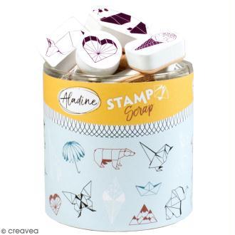Kit de tampons Stampo Scrap - Origami - 30 pcs