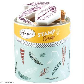 Kit de tampons Stampo Scrap - Plumes - 33 pcs
