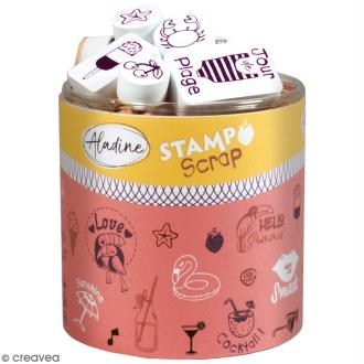 Kit de tampons Stampo Scrap - Eté - 37 pcs