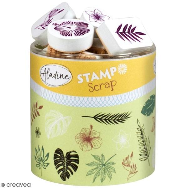 Kit de tampons Stampo Scrap - Feuilles tropicales - 30 pcs - Photo n°1