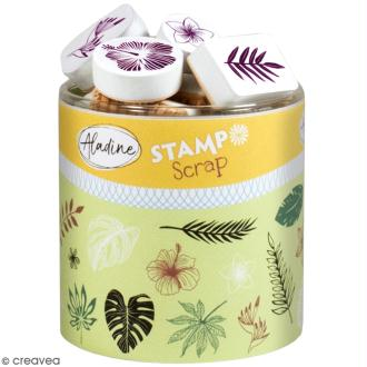 Kit de tampons Stampo Scrap - Feuilles tropicales - 30 pcs