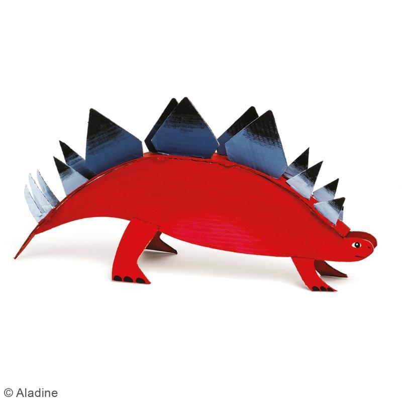 Dino'dulos Puzzle 3D en carton à monter et à décorer - Dinosaures - Photo n°5