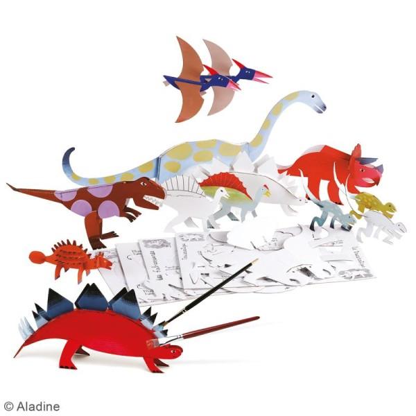 Dino'dulos Puzzle 3D en carton à monter et à décorer - Dinosaures - Photo n°2