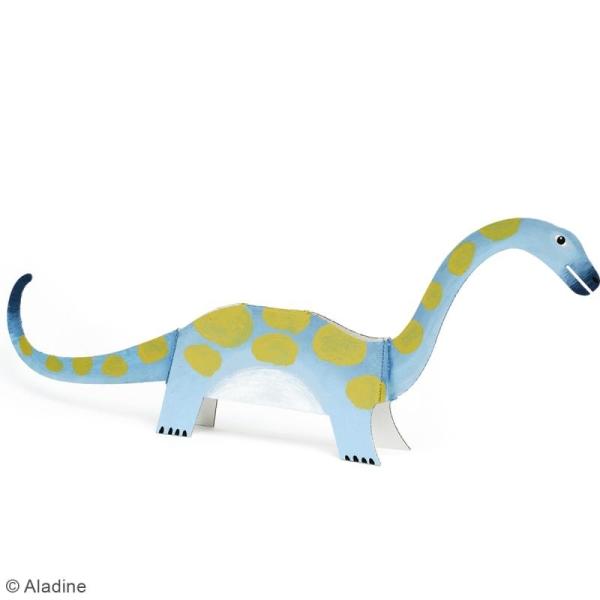 Dino'dulos Puzzle 3D en carton à monter et à décorer - Dinosaures - Photo n°4