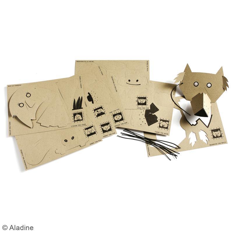 Kit Mask'animaux - 8 masques à assembler et à décorer - Photo n°3