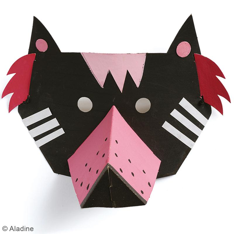 Kit Mask'animaux - 8 masques à assembler et à décorer - Photo n°6
