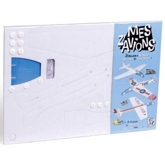 Mes Z'avions Puzzle 3D en carton à monter et à décorer - 3 avions