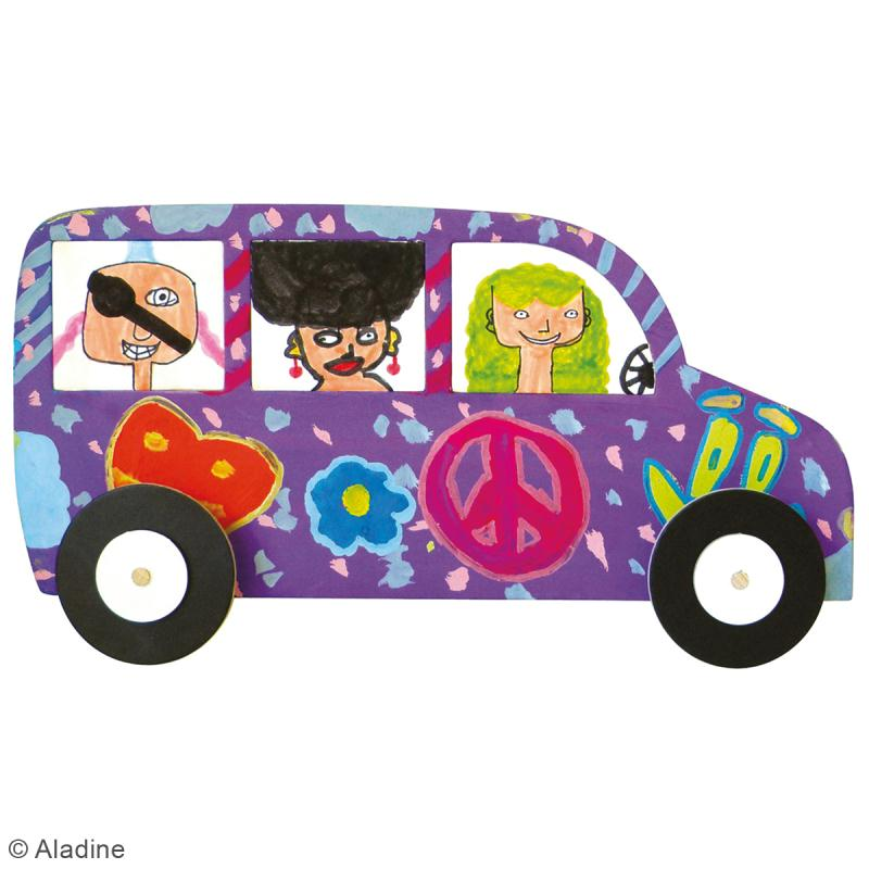 Kit Rouly roulettes - 5 véhicules à assembler et à décorer - Photo n°3