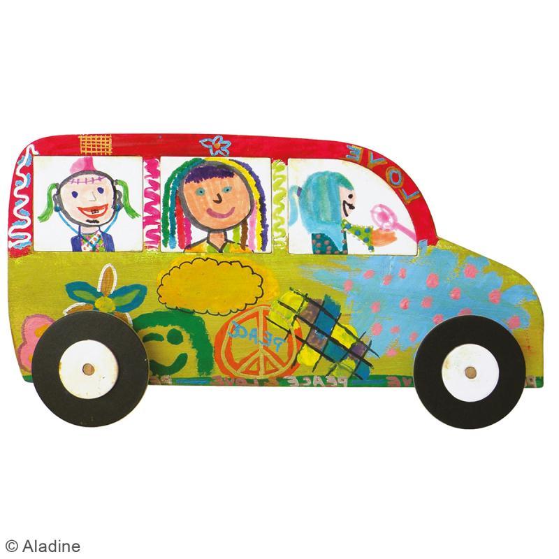 Kit Rouly roulettes - 5 véhicules à assembler et à décorer - Photo n°5
