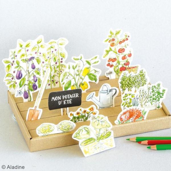Jeu en carton à faire soi même - Puzzle 3D - Mon potager - Photo n°2