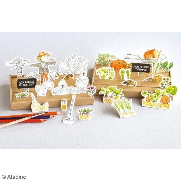 Jeu en carton à faire soi même - Puzzle 3D - Mon potager - Photo n°3